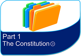 The formal part of the Constitution which is divided into 16 Chapters that set out the basic rules governing the way that the Council operates.