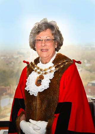 The new Mayor of Fareham, Mrs Cllr Hockley
