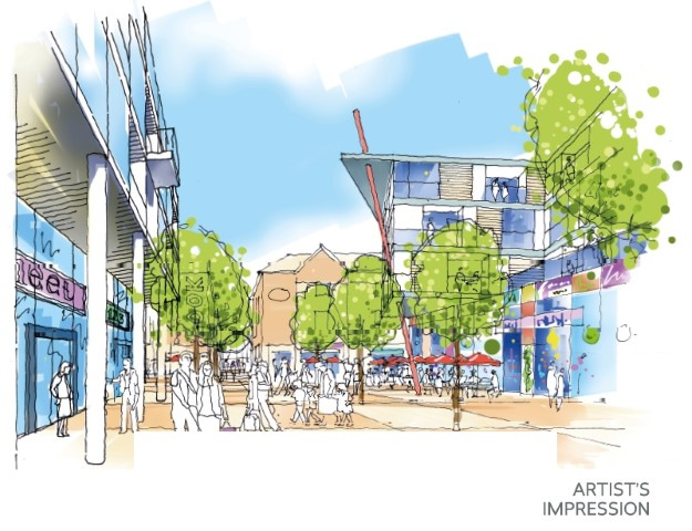 Market Quay Artists impression
