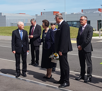 HRH The Princess Royal visited Daedalus today (Thursday 13 July), as the site marks 100 years of flying.