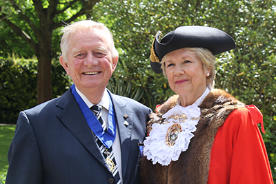 Picture Caption: Mr Brian Bayord, Mayor's Consort, with Cllr Mrs Susan Bayford, Mayor of Fareham