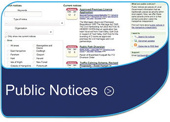 Public Notices - Hampshire County Council