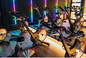 Bicycles in Fareham Leisure Centre Spin Studio