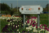 An image of a roundabout sign for Newnet