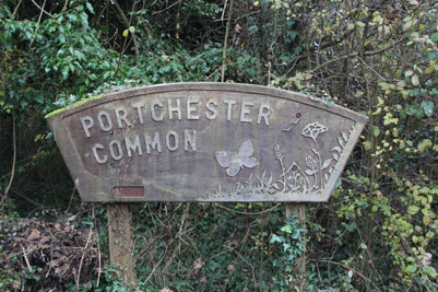 An image of Sign for Portchester Common