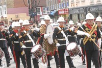An image of a marching band in Fareham town centre