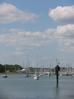 A view of Moody's boatyard looking towards Warsash