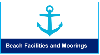 Beach facilities and Moorings