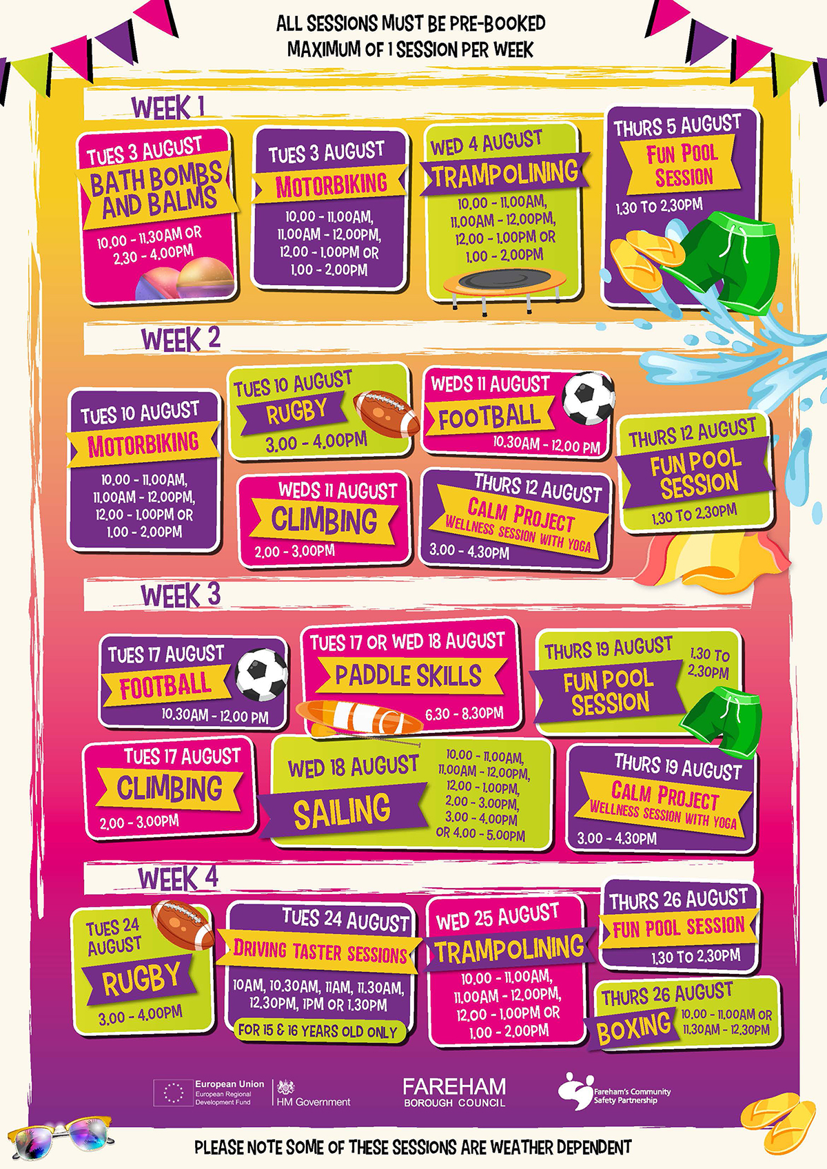 Access All Areas timetable
