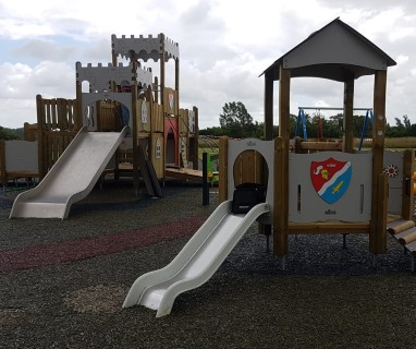 Abbey Meadows climbing equipment and slide