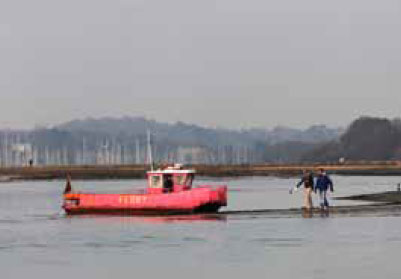 The Hamble Pink Ferry
