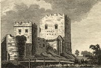An image of a Portchester Castle etching