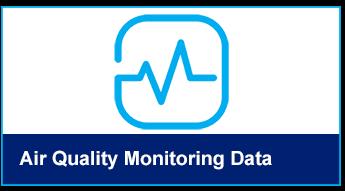 Air quality monitoring data button