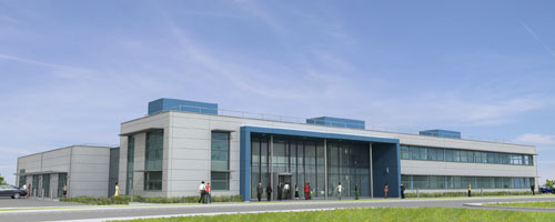 Image of a 3D model of the new innovation centre