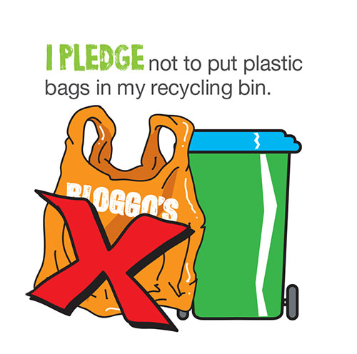 I pledge not to put plastic bags in my recycling