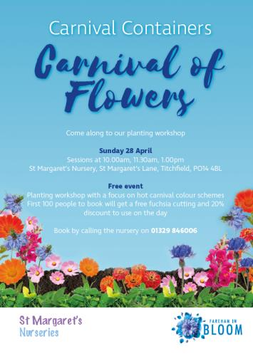 Carnival of Flowers workshop