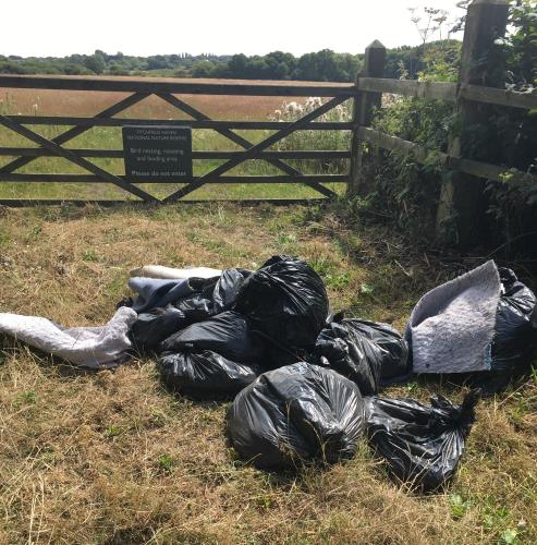 An example of local fly tipping